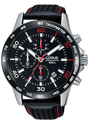 Lorus Watches Herren Chronograph Quarz Uhr mit Leder Armband RM303DX9
