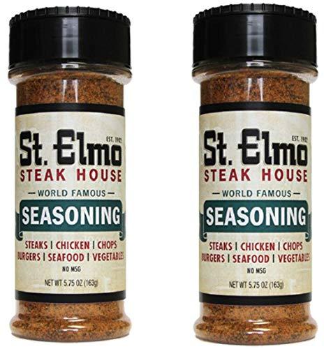 St. Elmo Steak House Seasoning or Sauce for Steak, 2-Pack (World Famous Seasoning)
