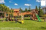 Spielanlage 'SPIDER LAND' DREI Spieltürme von Fungoo - Podesthöhe 145cm mit Rutsche 290 cm,...