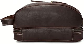 Men's Leather laptop bag Fashion Oil Skin Unisex Decorative Leather laptop bags Make Up Leather laptop bags Wash Leather laptop bags With Forked Zipper JUYOUSHENGKEJI