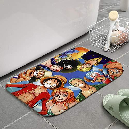 Felpudo de Entrada Impreso en 3D Animados One Piece Felpudo Cocina Alfombra Interior Bienvenido Baño Alfombrillas antideslizantes-16x24 Inch-1_80x120cm