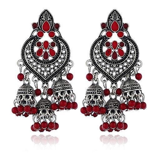 siwetg Retro Indian Bollywood Kundan Jhumka Jhumki Earrings, Gypsy Fashion Jewellery