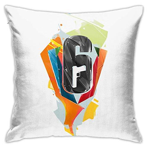 LUCKY Home Fundas de almohada decorativas con diseño de seis asedios de arco iris y cintura cuadrada, 45,7 cm