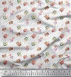 Soimoi Weiß Baumwolle Batist Stoff Süßigkeiten &