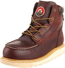 """Electrical Hazard - meets ASTM F2413-11, M/I/75/C/75 Safety Standards Heat-Resistant outsole - resistant to melting at a minimum of 475 Fahrenheit 6"""" lace-up aluminum-toe work boot with USA-made full grain waterproof leather and removable polyurethan..."""