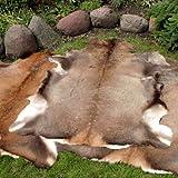 Grande peau de cerf rouge peau fourrure taxidermie ornement tapis tapis sol décoration murale pendaison gothique design