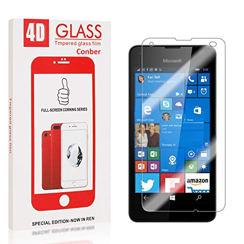Tempered Glass Screen Protector Compatible with Microsoft Lumia 550 UNEXTATI Premium HD Clear Anti Scratch Tempered Glass Film for Microsoft Lumia 550 1 Pack