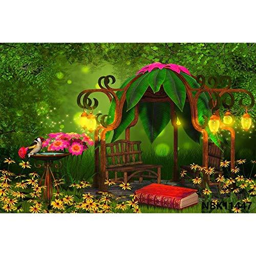 Cuento de Hadas País de Las Maravillas Bosque de ensueño Selva Naturaleza Paisaje Primavera Telón de Fondo Fotografía Fondo para Estudio fotográfico A22 9x6ft / 2.7x1.8m