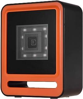 Leepesx Handfree USB سلكي 1D 2D QR قارئ رمز القضيب متعدد الاتجاه مع زر الزناد العلوي يدعم وضع المسح الضوئي / وضع الاستشعار...