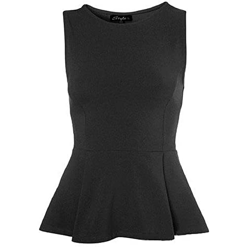 offer discounts search for clearance select for newest Black Peplum Top: Amazon.co.uk