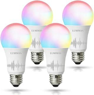 Smart WiFi Alexa Light Bulb, LUMIMAN LED RGBCW Color...