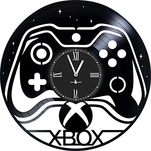 X-Box Wall Clock from Music Vinyl PLATE-12 Diameter - Made in Europe - Precision Quartz Movement - Silent and Reliable - Convenient and Reliable Mount - The Best Gift for Gamers