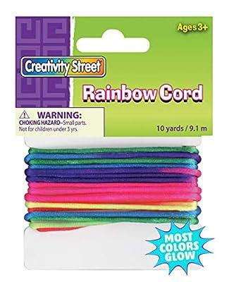 Creativity Street Cord, Rainbow, 10 yds., 1 Count
