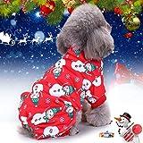 Idepet Disfraz De Mascota De Navidad Gato Ropa para Perros, Snowflake Puppy Hoodie Dog Coat Sweater Jacket, Pet Dress Up for Small Medium Large Dog Cat Kitty (S)
