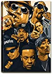 Hip hop Rapper Poster West Coast Rappers Poster Canvas Prints Wall Art Legend Collage Frame Ready to Hang Art Poster and Picture Print Modern Family Bedroom Decor Posters Album Cover Pub Bar Decor