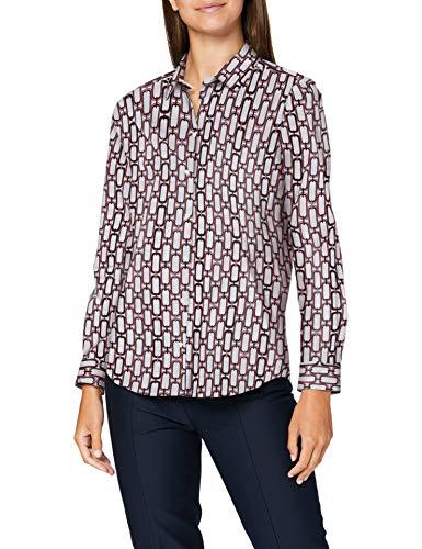 Seidensticker Damen Hemdbluse Langarm Kette Bluse, Granita, 40