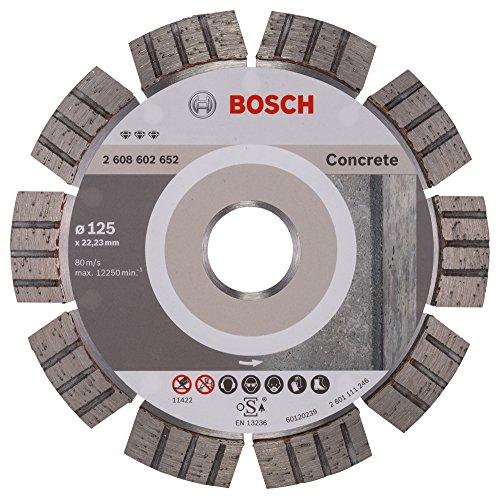 Bosch Professional Diamanttrennscheibe Best für Concrete, 125 x 22,23 x 2,2 x 12 mm
