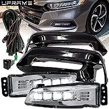 UFRAME Built-in LED Fog light Kit Fits 2018 2019 Honda Accord Sedan 4-Door Model EX EX-L Hybrid LX Sport Touring