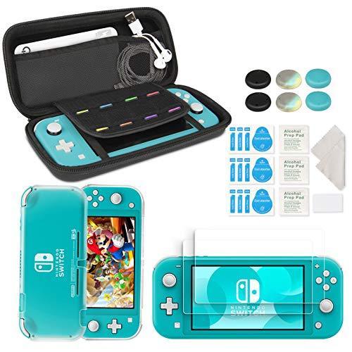 innoAura Kit di Accessori per Nintendo Switch Lite, include una Custodia per il Trasporto, Cover Case in TPU, 2 Schermi Protettivi in Vetro Temperato HD per gli Accessori dello Switch Lite