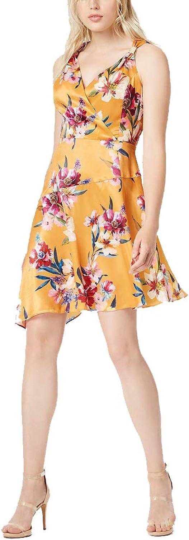 Bar III Printed Asymmetrical Dress