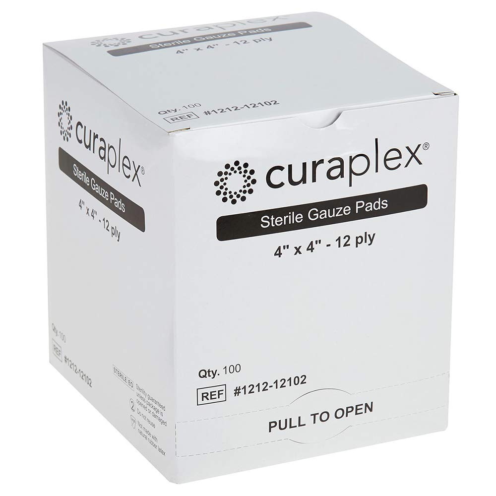 Curaplex Sterile Portland Mall Gauze Sale Pad Woven 12-ply 4