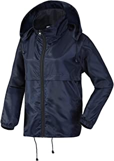 Women Rain Jacket Packable Waterproof Raincoat Hooded Spring Jacket