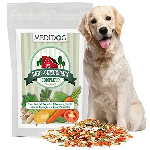 Medidog Premium Barfmix Complete für Hunde, 1000g Barfmischung, Getreidefrei, Ohne Zusätze, 100% Rohkostqualität, Luftgetrocknet, Barf Gemüse, Flockenmixer