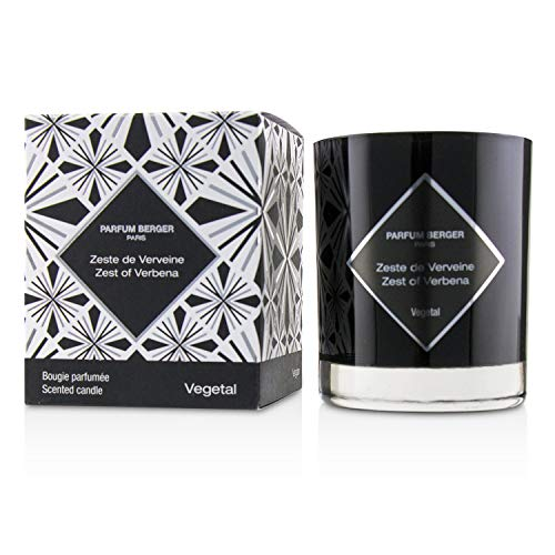 Lampe Berger Graphique Lot Bougie parfumée Verveine, Verre, Noir, 10 x 10 x 10 cm