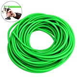 TOBWOLF 32.8FT/10M Rubber Latex Tube, 1/5' OD, 2/25' ID Slingshot Catapult Speargun Band, Elastic Professional Surgical Tube for Outdoor Hunting, Physical Therapy - Fluorescent Green