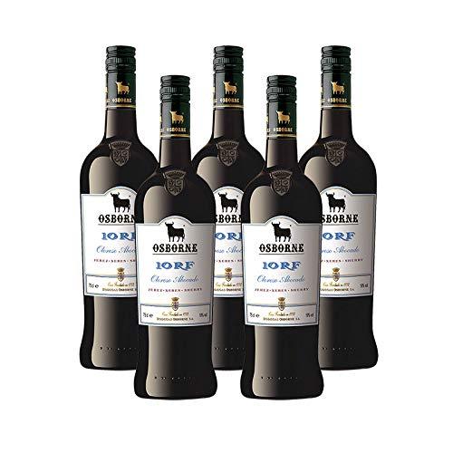 Vino Oloroso Medium Osborne 10 RF de 75 cl - D.O. Jerez - Bodegas Osborne (Pack de 5 botellas)