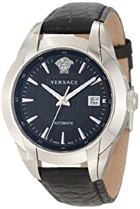 Versace Men's 25A399D008 S009 Character Automatic Black Dial Leather Watch Check Prices and Buy NOW!!! and review image