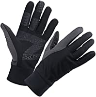 OZERO Winter Thermal Gloves for Men Touch Screen Windproof for Cycling Running