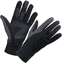 OZERO Driving Gloves for Men, Winter Warm Bike Glove for Smart Phone Texting with Non-Slip Silicone Gel - Thermal Windproof and Waterproof for Running, Cycling - Black (X-Large)