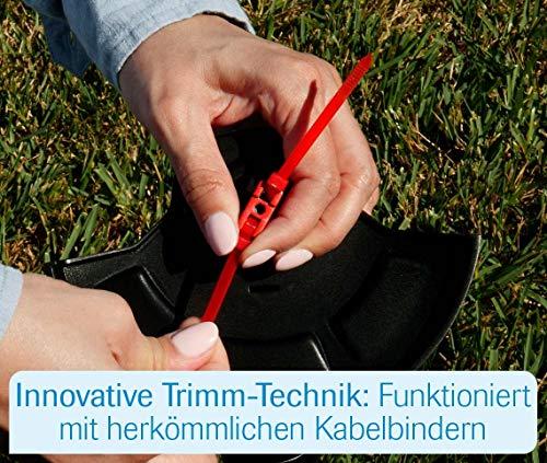MediaShop Hammersmith Bionic Trimmer – innovative Motorsense ohne Faden, funktioniert mit Kabelbindern – leichter Rasentrimmer mit Akku – Rasenkantenschneider mit Führung - 4