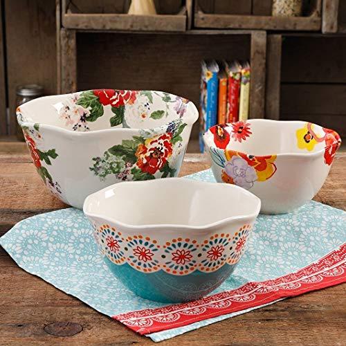 The Pioneer Woman Flea Market 3-Piece Scalloped Serving Bowl Set (1)