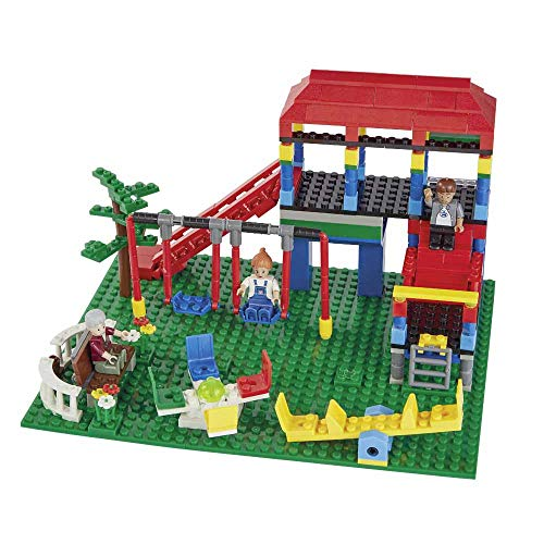 wilko blox Play Park Large Set, Playground Building Kit, Toy Bricks Building Set Compatible with Leading Brand, Ages 6+