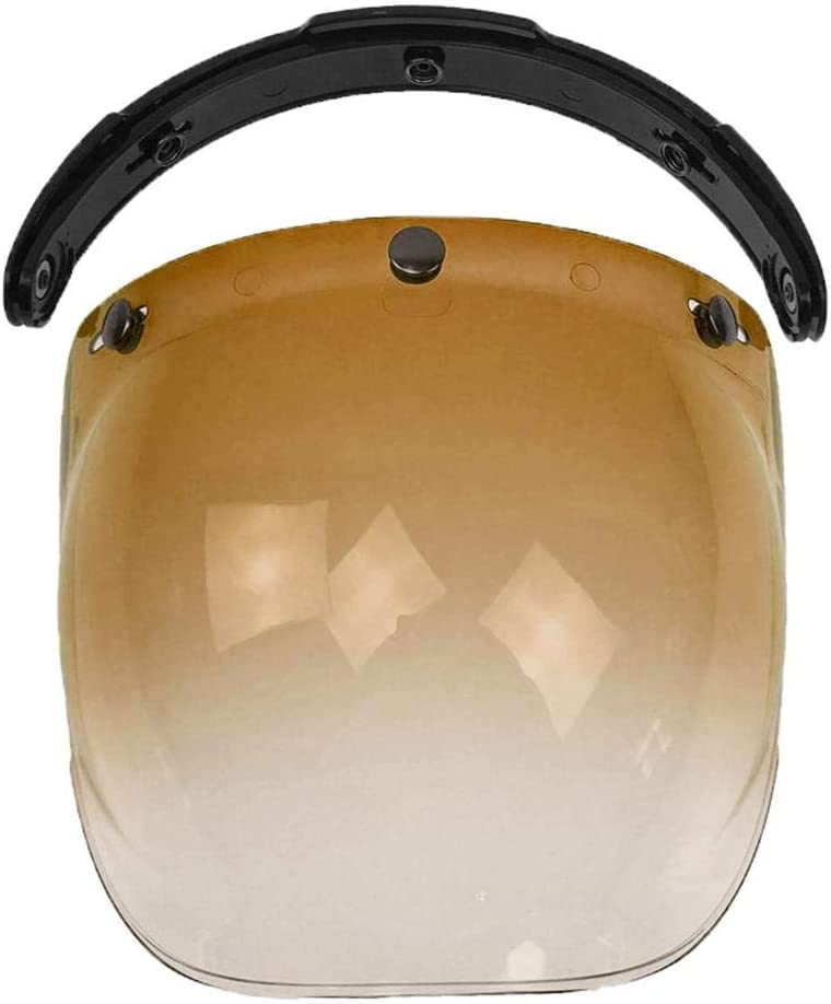 Dolity 3-Snap Open New Shipping Free Shipping Shipping included Face Helmet Bubble High Retro Ste Visor