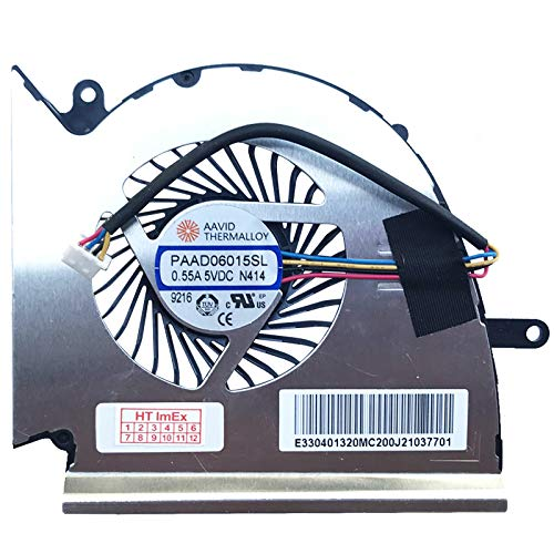 MSI - Ventilador Compatible con MSI GP63 8RD-084XFR, GP75 9SD-431, GP63 8RE-223, GP63 8RE-216, GP75 9SD-419, GP75 9SD-437