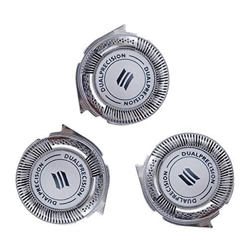 Shaver Razor Head Replacement for Philips Norelco HQ8 DualPrecision Head(3pcs)
