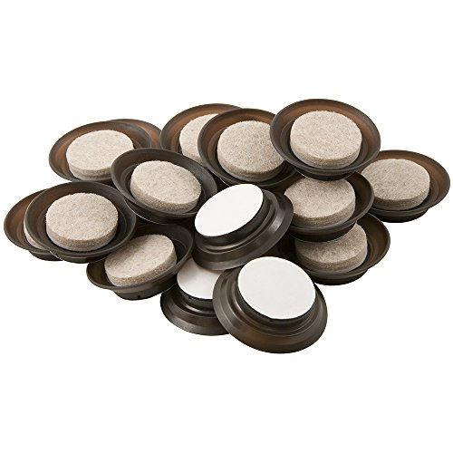 Kleen Freak 3001100 Self-Stick Fuzz Free Felt Pads for Furniture Legs & Hard Floors-Resist Dust, Dirt. 1
