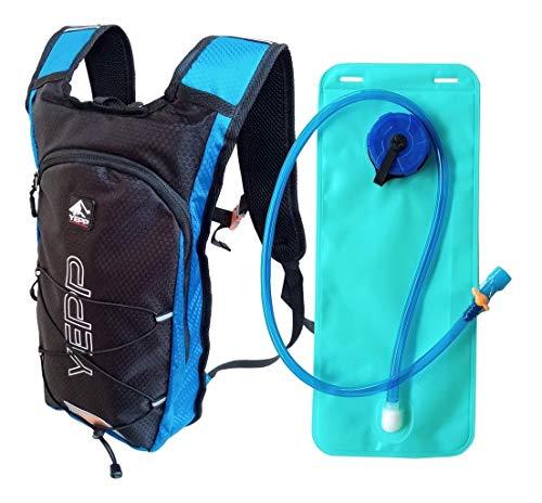 Mochila Hidratação Bolsa Água 2 Litros P/Bike Corrida Cor:Azul