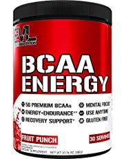Evlution Nutrition BCAA Energy - High Performance Energizing Amino Acid Supplement For Muscle Building, Recovery And Endurance, 30 Servings