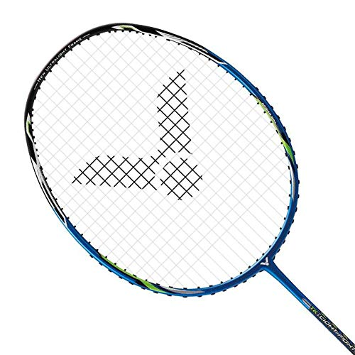 Victor TK-Light Fighter 30 Badminton Pre-Strung Racket (TK-LF30 F)(Dina Blue) (6UG5)