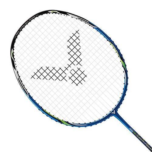 Victor TK-Light Fighter 30 Badminton Pre-Strung Racket (TK-LF30 F)(Dina Blue) (6UG5)