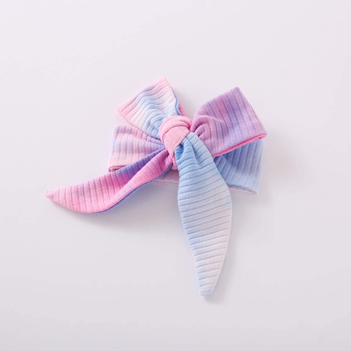 Newborn Baby Girl Pajamas Tie Dye, Organic Cotton Kimono Onesies+Pants+Headband, Infant Baby Top Pants Set