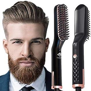 AUSELECT Beard Straightener 3IN1 Comb Straightener Brush, Quick Electric Hair Brush (SAA Certified)