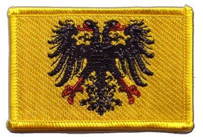 Flaggenfritze Flaggen Aufnäher Heiliges Römisches Reich Deutscher Nation nach 1400 Fahne Patch + gratis Aufkleber