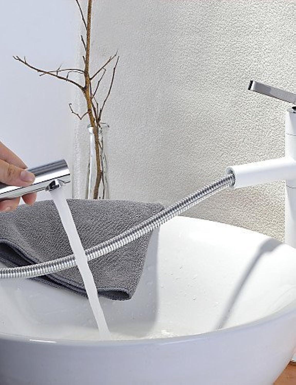 MONFS Home Shengbaier Weiß Bathroom Einhebel-Einlocharmatur mit drehbarem Auslauf (hoch), wei (Farbe   Weiß)