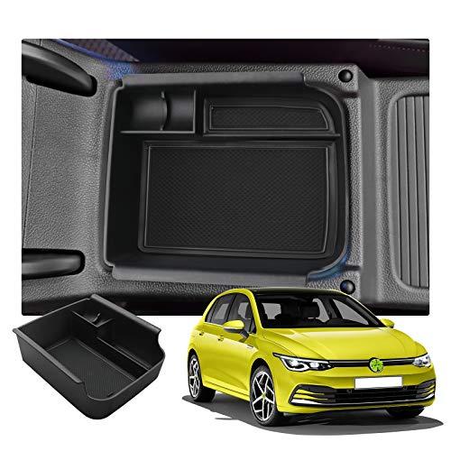 RUIYA Golf 8 MK8 Console Centrale Scatola di Immagazzinaggio Vano portaoggetti Console Storage Box Organizer per Auto Accessori (Nero)