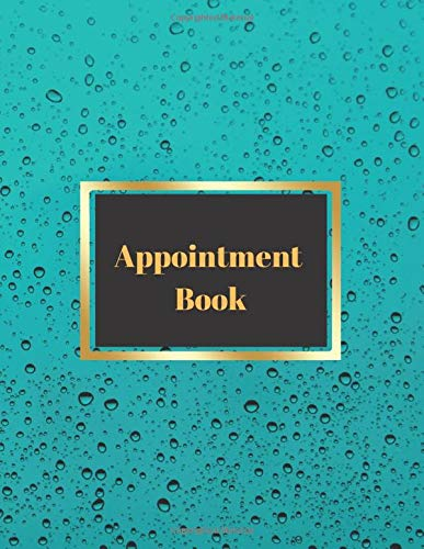 Appointment Book - Blue Drop Cover: Hourly / daily schedule notebook from 6am to 9pm for Hairdressers, Massage salons, Nail bars and Beauty Salons ... planner and yearly 2020/21...